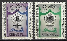 SOUDAN   -  1962 .  Y&T N° 142 / 143  *.   Paludisme  /  Moustique /  Malaria. - Sudan (1954-...)