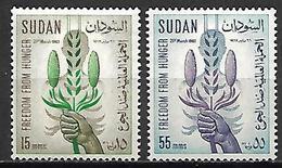 SOUDAN   -  1963 .  Y&T N° 158 / 159  *.   Alimentation  /  Céréales  /  Main. - Sudan (1954-...)