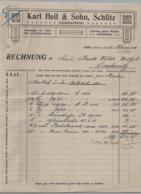 Schlitz - Rechnung Leinenweberei Karl Heil & Sohn 1916 - Transports