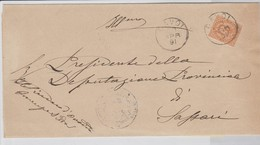 Cavoi. 18971. Annullo Grande Cerchio CAVOI, Su Lettera Affrancata Con C. 20 - 1878-00 Umberto I