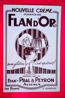 Buvard FLAN D'OR, Etablissements PRAL & PEYRON, Avignon - Sucreries & Gâteaux