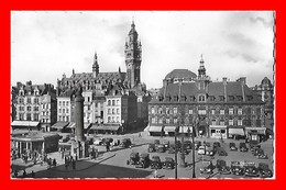 3 CPSM/pf (59) LILLE.  Place Du Général De Gaulle / Place De La République / Palais Des Beaux-Arts...C701 - Lille