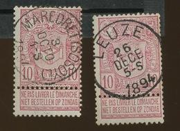69. 10c. Deux Joli Oblitérés. Mooi Afsteempelingen - 1894-1896 Exhibitions