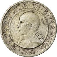 Monnaie, San Marino, 5 Lire, 1931, Rome, TB+, Argent, KM:9 - San Marino