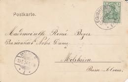 CP Affr Michel 70 Obl EGISHEIM / (OBERELS) Du 10.6.04 Adressée à Molsheim - Marcophilie (Lettres)