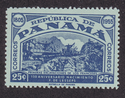 Panama - 1955 - Sc 402 - First Excavation Of Panama Canal - MH - Panama