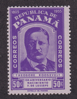 Panama - 1955 - Sc 403 - Ferdinand De Lesseps, 150th Birth Anniv - MH - Panamá