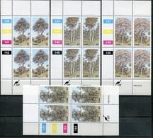 Ciskei Mi# 34-7 Zylinderblöcke Postfrisch/MNH Controls - Flora Trees - Ciskei