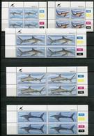 Ciskei Mi# 38-42 Zylinderblöcke Postfrisch/MNH Controls - Fauna Sharks - Ciskei