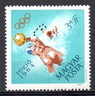 HONGRIE. N°1658 De 1964. Water-polo Aux J.O. De Tokyo. - Wasserball