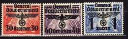 Generalgouvernement 1940 Mi 30-32 **/(*)/* [23052020XIX] - Occupation 1938-45