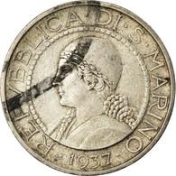 Monnaie, San Marino, 5 Lire, 1937, Rome, TTB+, Argent, KM:9 - San Marino