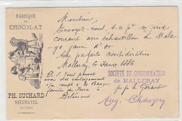 Chocolat Suchard - Illustr. Ganzache - 1886 !      (P-240-91002) - Advertising