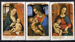 Penrhyn N° 65 / 67 XX  Noël : Tableaux,  Les 3 Valeurs  Sans Charnière  TB - Penrhyn