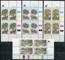 Ciskei Mi# 52-5 Zylinderböcke Postfrisch/MNH Controls - Flora Trees - Ciskei