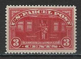 USA Sc Q3, Mi Pak 3 * MH - Parcel Post & Special Handling