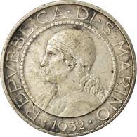 Monnaie, San Marino, 5 Lire, 1932, Rome, TTB, Argent, KM:9 - San Marino