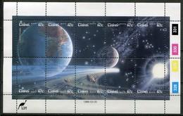 Ciskei Mi# 87-96 Zylinderbogen Postfrisch/MNH Controls - Space Halley's Comet - Ciskei