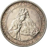 Monnaie, San Marino, 20 Lire, 1933, Rome, SUP, Argent, KM:11 - San Marino