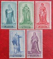 Senaat Portraits Du Sénat II Complete Set 1947 OBP 751-755 (Mi 793-797) POSTFRIS /MNH ** BELGIE BELGIUM - Unused Stamps