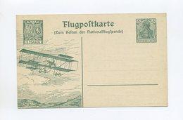 1912 Dt. Reich Flugpostkarte Sonderganzsache SFP 2 Doppeldecker Sauber Ungebraucht Siegernr 16Ba - Posta Aerea