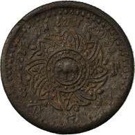Monnaie, Thaïlande, Rama IV, 1/8 Fuang, 1 Att, 1862, TTB, Tin, KM:6.1 - Thailand