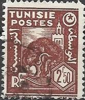 TUNISIA 1944 Mosque & Olive Trees - 2f.50 - Brown FU - Gebruikt