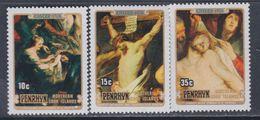 Penrhyn N° 97 / 99 XX Pâques Et 400è ,anniversaire Naissance De Ruben Les 3 Valeurs Sans Charnière  TB - Penrhyn