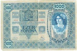 Autriche Austria 1000 Kronen 2 Januar 1902 Ezer Korona Surcharge Deutschösterreich P 8a - Austria