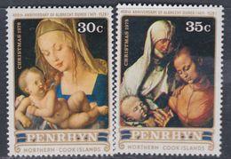 Penrhyn N° 103 / 04 XX Noël Et 450è Anniversaire Mort D'Albrecht  Dûrer Les 2 Valeurs Sans Charnière  TB - Penrhyn