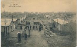 Arlon 1921 – Le Camp De L'artillerie – Baraques Et Soldats - Arlon