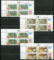 Ciskei Mi# 141-4 Zylinderblöcke Postfrisch/MNH Controls - Flora Citrus Farming - Ciskei