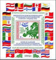 BULGARIA 1983, CONCLUDING CONFERENCE On SECURITY And COOPERATION In EUROPE, MNH BLOCK, GOOD QUALITY, *** - Unused Stamps