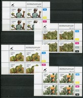 Ciskei Mi# 179-82 Zylinderblöcke Postfrisch/MNH Controls - Flora Fruits - Ciskei