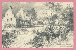 LANGEMARK - Von Den Engländern Zerstört - Feldpostkarte - Zeichnung - Dessin De W. LÜTTEBRANDT - Guerre 14/18 - Langemark-Poelkapelle