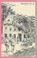 POELKAPELLE - Von Den Engländern Zerstört - Feldpostkarte - Zeichnung - Dessin De W. LÜTTEBRANDT - Guerre 14/18 - Langemark-Poelkapelle