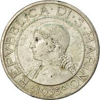 Monnaie, San Marino, 5 Lire, 1935, Rome, TTB, Argent, KM:9 - San Marino