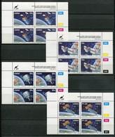 Ciskei Mi#  216-9 Zylinderblöcke Postfrisch/MNH Controls - Space Satellites - Ciskei