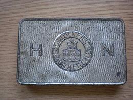 Old Tin Box Guldenring 25 Zigaretten Hause Neuerburg Tropen Packuns - Boites à Tabac Vides