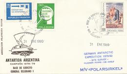 ARGENTINA / GRAL. BELGRANO -  31  ENE 1980  ,  German Antarctic Expedition 1979/1980   -  M/V POLARSIRKEL - Argentina
