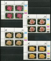 Ciskei Mi#  250-3 Zylinderblöcke Postfrisch/MNH Controls - Flora Roses - Ciskei