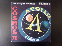"""Cosmos 70 """" Apollo Nasa """" Disque Offert Par Grundig - Vinyl Records"""