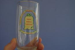 7.1 Glass Pub Verre Publicitaire Agriculture Somme Poix Eplessier Jacques Houssin  3 Chiffres Telephone Date De 1953 ? - Vidrio & Cristal