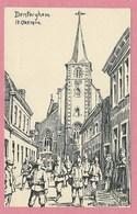 DENTERGHEM - Von Den Engländern Zerstört - Feldpostkarte - Zeichnung - Dessin De W. LÜTTEBRANDT - Guerre 14/18 - Dentergem