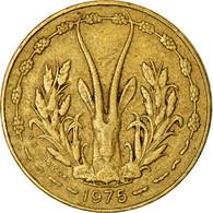 Monnaie, West African States, 5 Francs, 1975, TTB, Aluminum-Nickel-Bronze, KM:2a - Côte-d'Ivoire