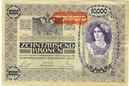 Autriche Austria 10000 Kronen 2 November 1918 (1919) Surcharge Deutschösterreich P 66 - Austria