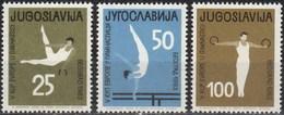 Yugoslavia 1963 Gymnastic European Cup Belgrade, Set MNH - 1945-1992 Sozialistische Föderative Republik Jugoslawien