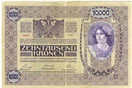 Autriche Austria 10000 Kronen 2 November 1918 (1919) Surcharge Deutschösterreich P 64 - Austria
