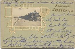 Oostende   *  Souvenir D'Ostende (Chalet Royal)  (Embossed Postcard - Carte Gaufrée) - Oostende