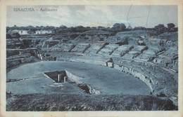 "8163 ""SIRACUSA-ANFITEATRO""  - CARTOLINA POSTALE ORIGINALE SPEDITA 1924 - Siracusa"